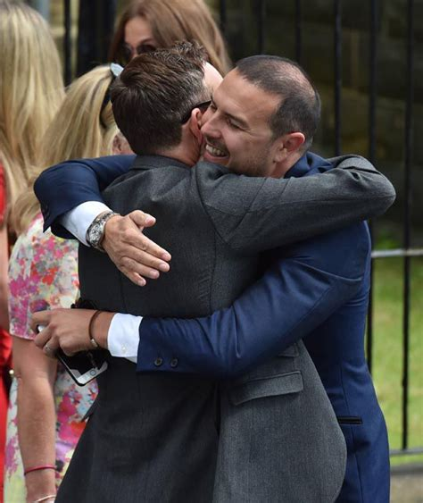 paddy mcguinness wedding photos paddy mcguinness hugs an acquaintance at the wedding of