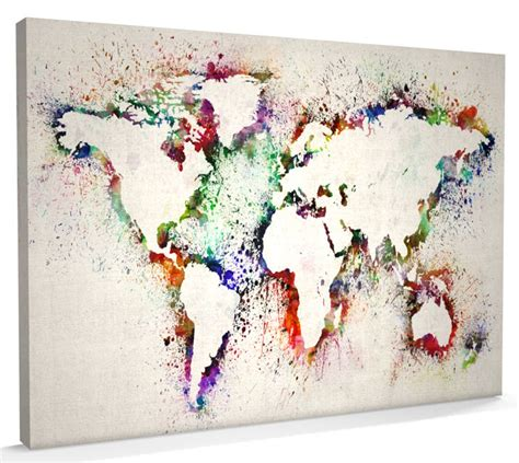 world map canvas map of the world map abstract painting canvas a3 to a1 v778 ebay