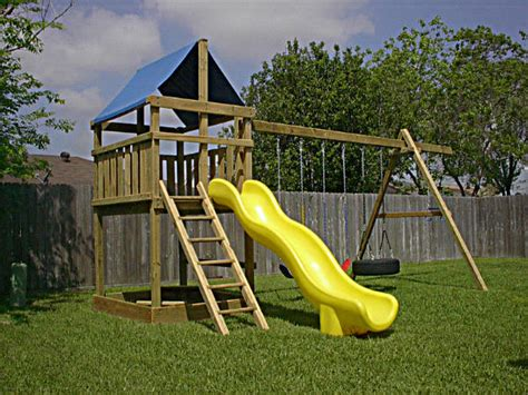 backyard playset plans triton playset diy wood fort and swingset add on plans