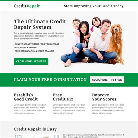 Credit Repair Templates Free Credit Repair Business Service Responsive Landing Page Design Templates To Boost Your Business