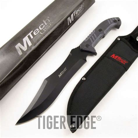 thick blade knife mtech 14 quot combat tactical bowie knife 5mm thick black