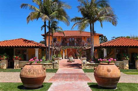 hacienda style house spanish colonial hacienda style home with a touch of