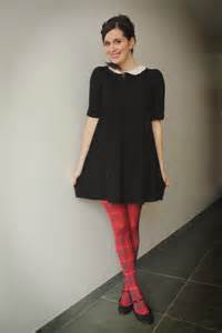 red tights black dresses quot peter pan collar and tartan