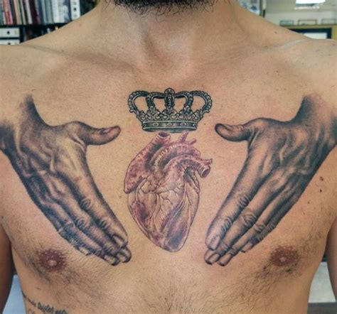 arm and chest tattoos for men 30 most powerful crown tattoos for tattoos era
