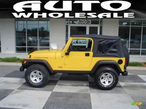 jeep rubicon yellow 2004 solar yellow jeep wrangler rubicon 4x4 17965673