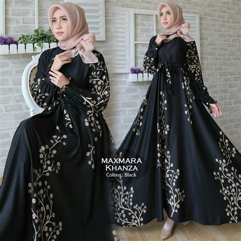 Dress Gamis Muslim Wanita Vanya Jumbo Maxi gamis terbaru khanza maxi maxmara baju muslim modern