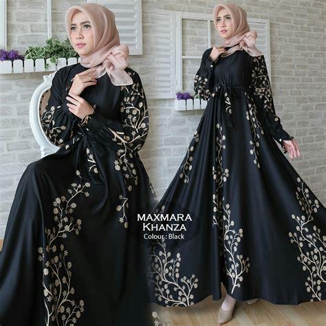 Gamis Dress Maxmara Motif Zeea gamis terbaru khanza maxi maxmara baju muslim modern