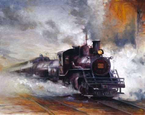 painting trains carrie dudley