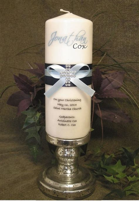 Holy Communion Candle Decoration by 1000 Ideas About Boy Baptism Decorations On