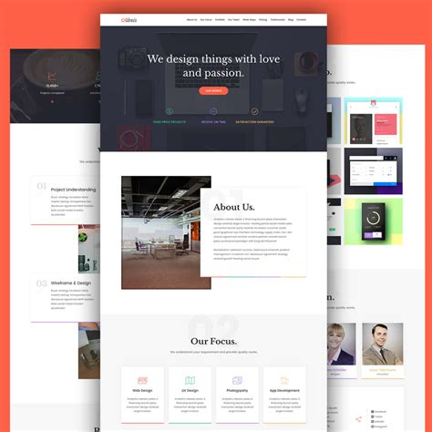 agency portfolio website template free psd