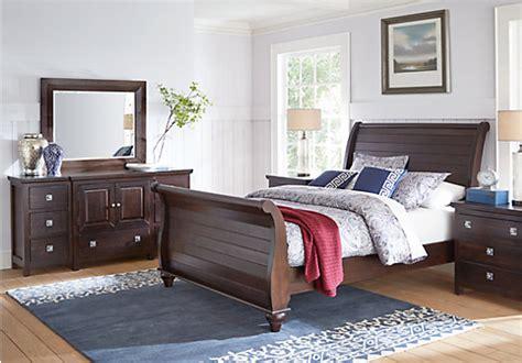 summer bedroom set summer grove espresso 5 pc sleigh bedroom bedroom sets wood