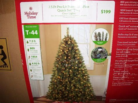 harrows artificial christmas trees time indoor pre lit 7 5 prescott pine set