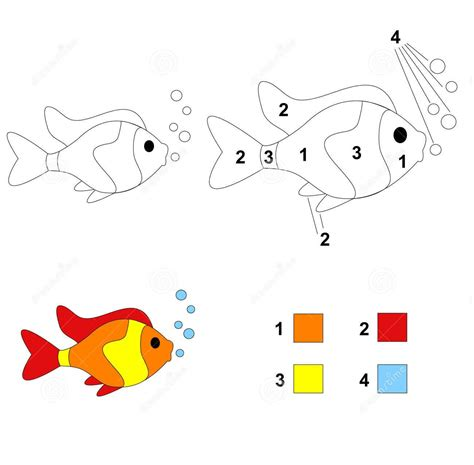 printable numbers on fish fish color by number coloring pages 8 171 funnycrafts