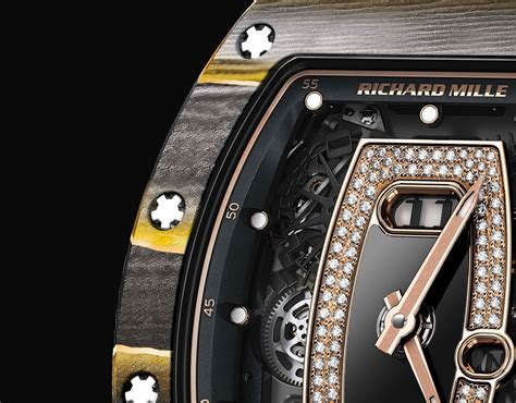 Jam Richard Mille Rm27 03 Carbon Black Crown Best Clone richard mille melds carbon composite with gold leaf sjx watches