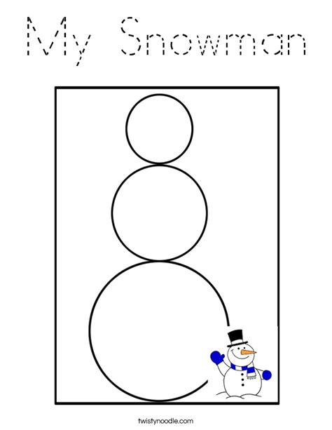 snowman coloring pages for kindergarten my snowman coloring page tracing twisty noodle