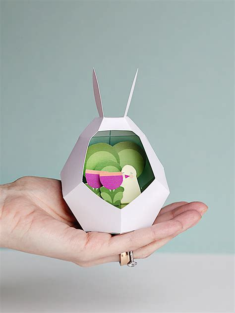 Easy And Craft With Paper - easy easter with bunny paper printables handmade