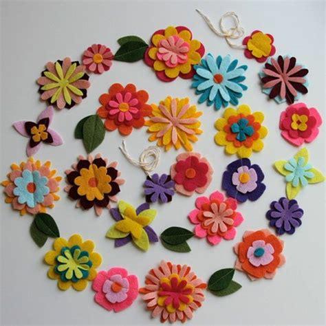 Felt Paper Crafts Ideas - filzblumen selber machen kreative bastelideen aus filz