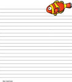 ocean writing paper pin writing paper regular lined ocean animals children s printable ocean stationery and writing paper multiple
