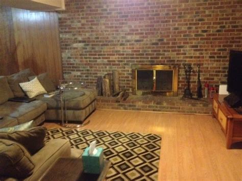 what color goes with a brick fireplace