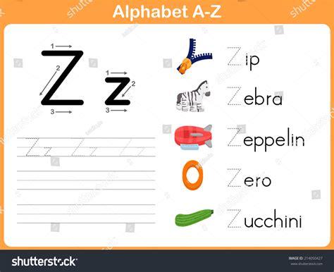 Alphabet Worksheet Set Letters Az by Alphabet Tracing Worksheet Writing A Z Stock Vector