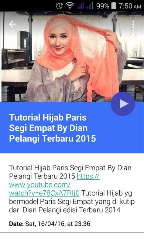 tutorial hijab pramugari ala dian pelangi hijab tutorial dian pelangi android apps on google play
