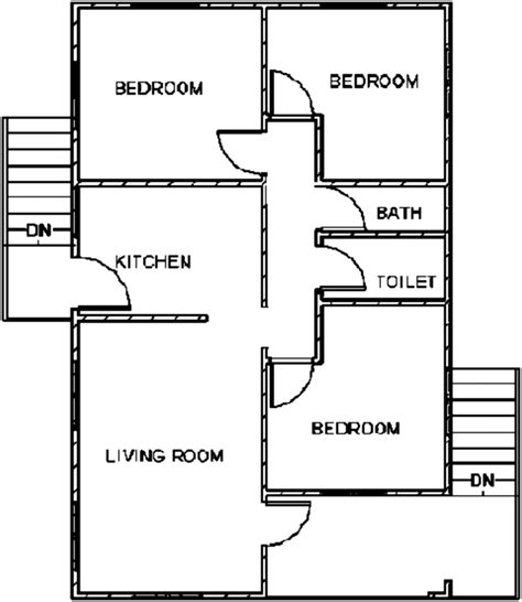 floor plan of a private single family residential building