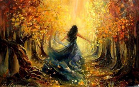 imagenes otoñales hd la luz del sol mujer del bosque del oto 241 o fondos de