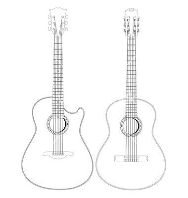 acoustic guitar template viol 227 o desenho png pesquisa coisas para usar
