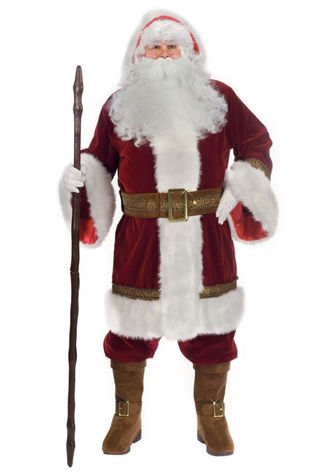 plus old time santa costume santa claus suits plus size