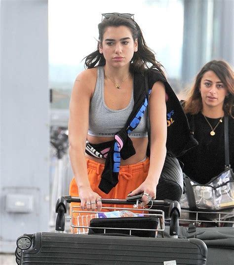 dua lipa jakarta dua lipa seen at heathrow airport heading off for her
