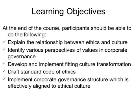 Corporate Governance Mba Notes Pdf by Ethics Culture Corporate Governance