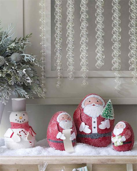martha stewart easy christmas crafts glittered santa treat boxes martha stewart