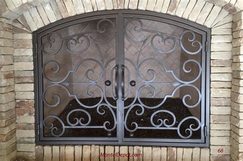 Iron Fireplace Doors by Fireplace Mantels Fireplace Surrounds Iron Fireplace