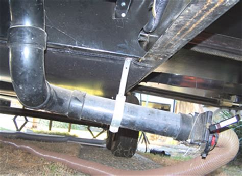 Black Water Plumbing by Drain Master Electric Waste Valve Is Key Part Of Rv