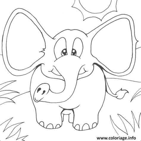 elephant ears coloring pages coloriage elephant facile 75 dessin