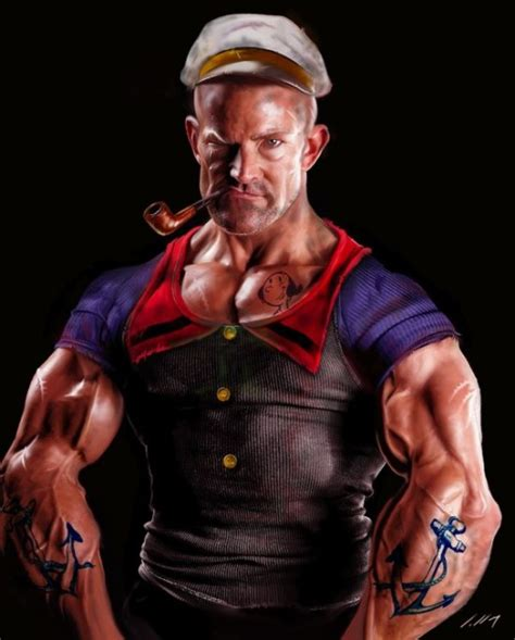 tattoo 3d popeye popeye the sailor man gets a stroke of the reality brush