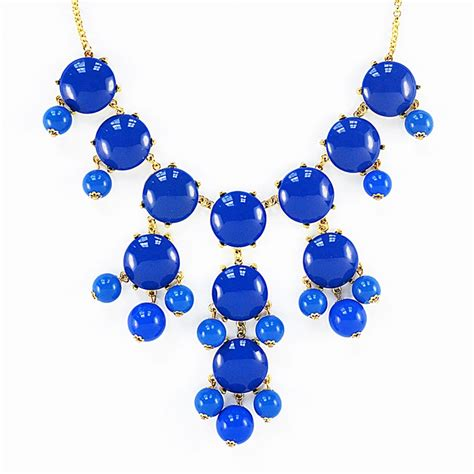 Blue Neckles necklace royal blue necklace with cascading baubles