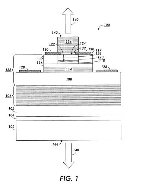 light emitting diode nitride patente us6515308 nitride based vcsel or light emitting diode with p n tunnel junction current