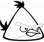 Yellow Angry Bird Colouring Pages