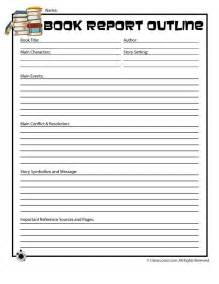 Book report forms book report outline form for older readers