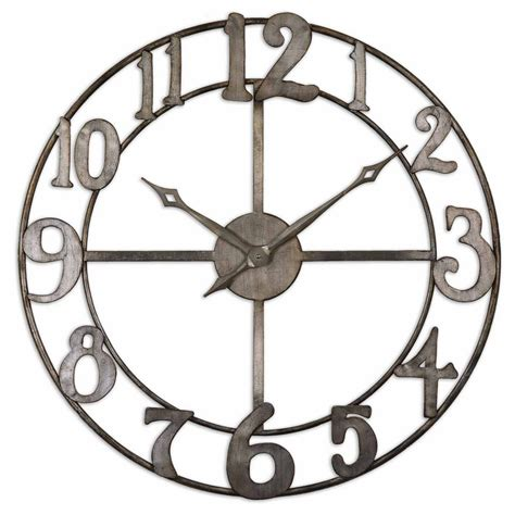 large wall clock uttermost delevan large wall clock with open design 06681