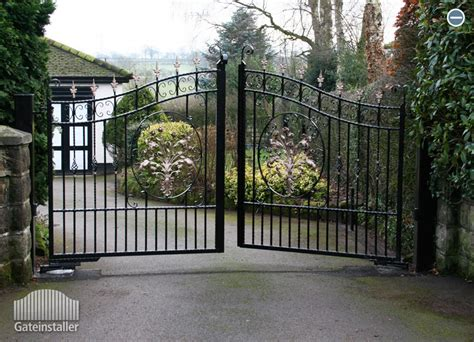 swinging on the gate swing gates wrought iron gates gate installer eire