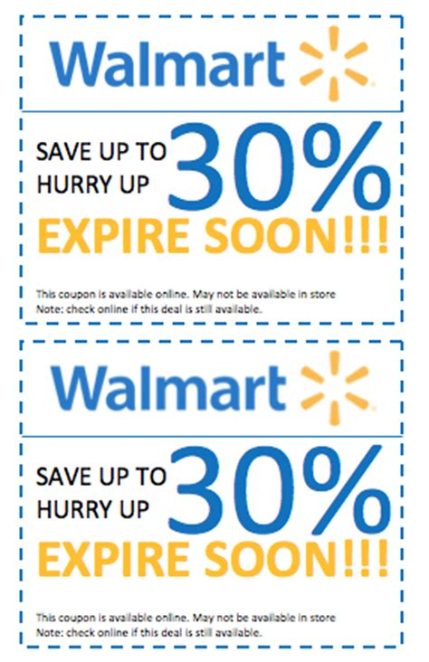 walmart in store printable grocery coupons wal mart stores coupons printable coupons online
