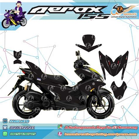 Sticker Striping Motor Aerox 155 Movistargrade B 338 Best Digitive Images On Custom Decals