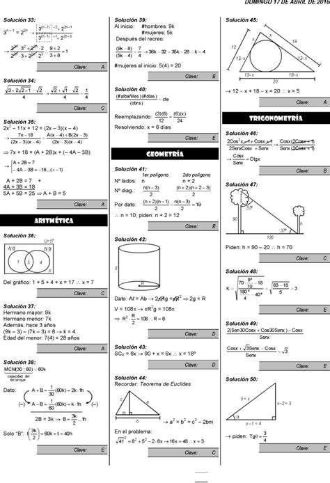 preguntas de matematicas en examen de admision r esultados examen de admisi 243 n el examen contiene