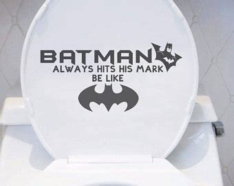 batman toilet seat toilet decal etsy