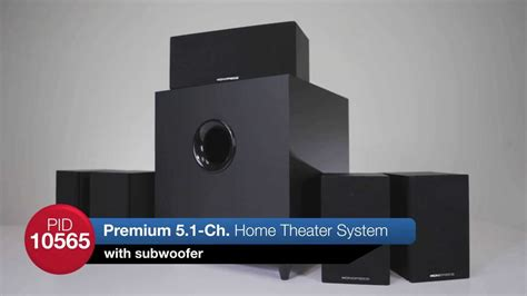 monoprice premium 5 1 surround sound home theater with