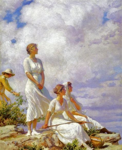 painting  silent poetry charles courtney curran