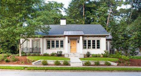 Small House Curb Appeal Ranch Home Curb Appeal Exterior Transitional With Parapet