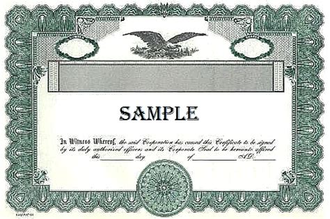 corporate bond certificate template template corporate bond certificate template